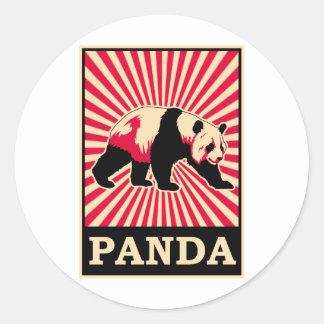 Panda Etiquetas Redondas