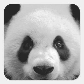 Panda Pegatina Cuadrada