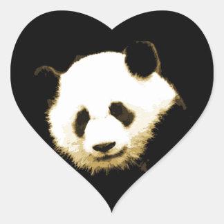 Panda Pegatina En Forma De Corazón