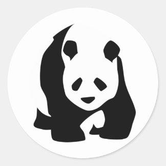 Panda Pegatina Redonda