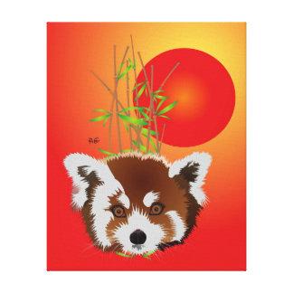Panda pequeña lienzo de cuña (Ailurus fulgens) Impresión En Lona