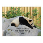 Panda perezosa linda del día tarjeta postal