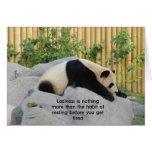 Panda perezosa linda del día tarjetón