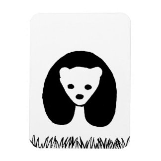Panda photo magnet