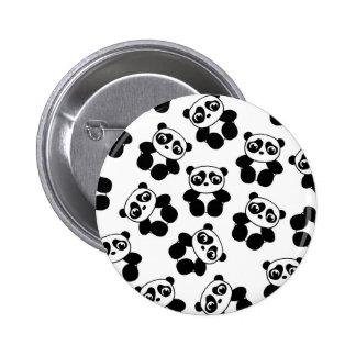 Panda Pin Redondo De 2 Pulgadas