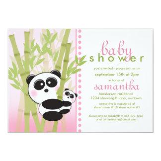 Panda (Pink) Baby Shower Invitations