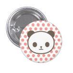 panda pink button