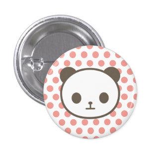 panda pink pinback button