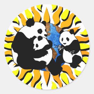 Panda Planet Classic Round Sticker