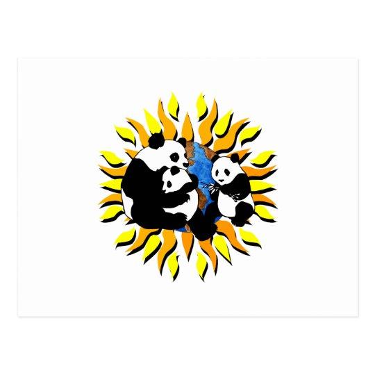 Panda Planet Postcard