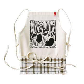 Panda Play Zazzle HEART Apron