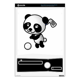 Panda playing golf cartoon decal for xbox 360 s