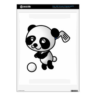 Panda playing golf cartoon xbox 360 console decals
