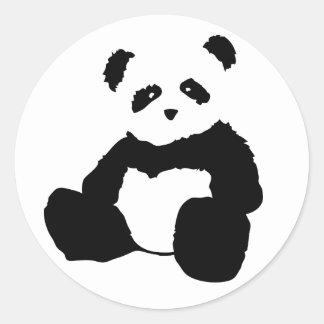panda plush. classic round sticker