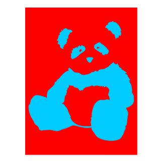 panda plush postcard