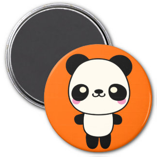 Panda Plushie Imán Redondo 7 Cm
