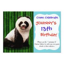 Panda poodle - bamboo panda - Pandog - cute dog Card