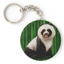 Panda poodle - bamboo panda - Pandog - cute dog Keychain