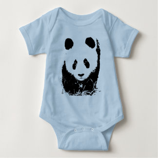 Panda Pop Art Baby Bodysuit