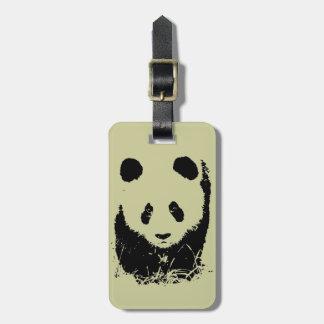 Panda Pop Art Bag Tag