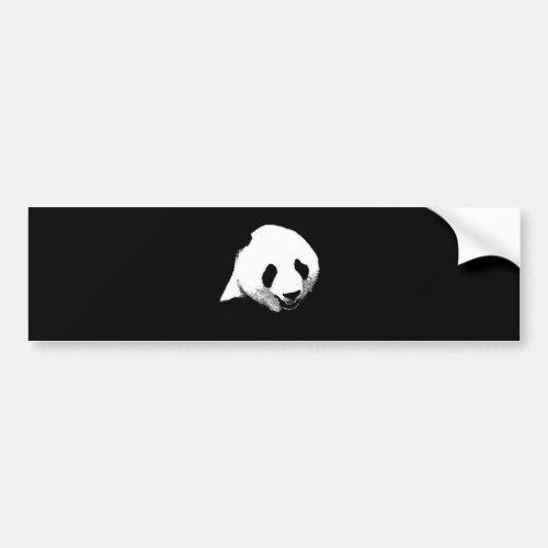 Panda Pop Art Bumper Sticker