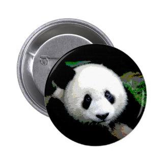 Panda Pop Art Pinback Buttons