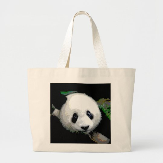 Panda Pop Art Large Tote Bag