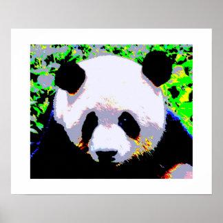Panda Pop Art Poster Print - Panda Posters