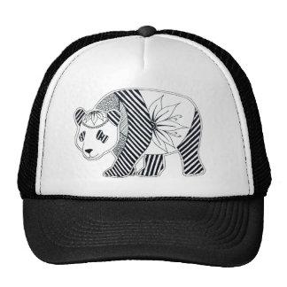 Panda por el arte de Allie Rianne Gorros Bordados