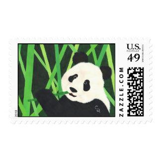 Panda Postage Stamp