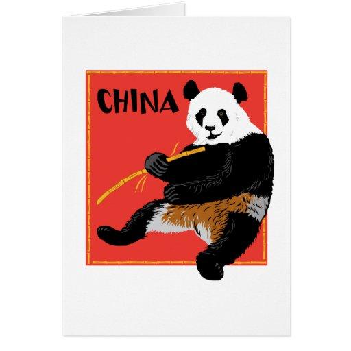 Panda Poster Greeting Card