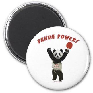 Panda Power Ping Pong Fridge Magnet