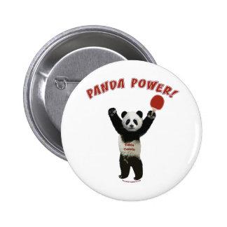 Panda Power Ping Pong Pinback Button