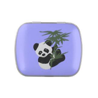 Panda preciosa frascos de dulces