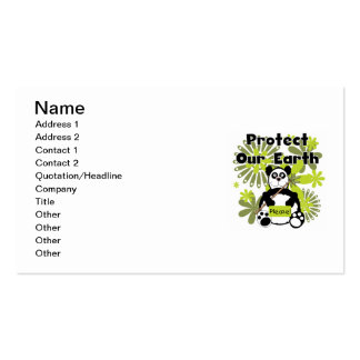 Panda Protect Our Earth T-shirts and  Gifts Business Card