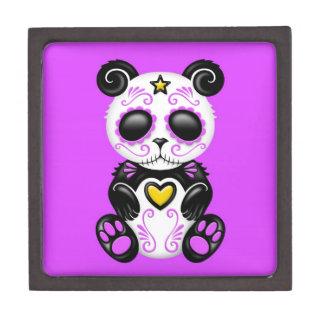 Panda púrpura del azúcar del zombi caja de regalo de calidad