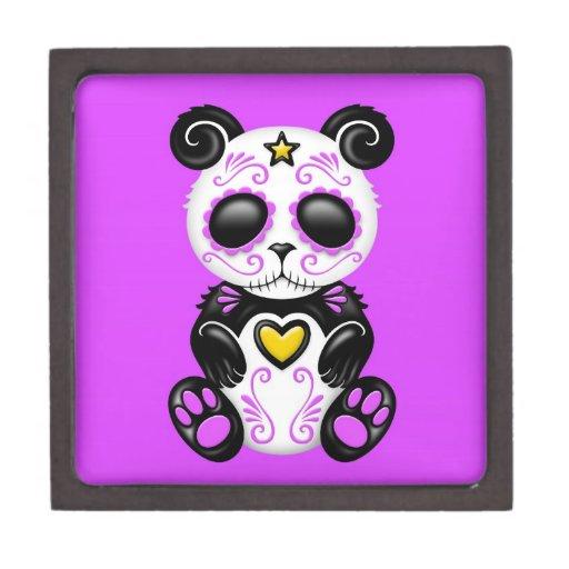 Panda púrpura del azúcar del zombi cajas de recuerdo de calidad