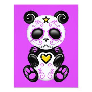 Panda púrpura del azúcar del zombi invitaciones personalizada
