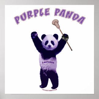 Panda púrpura LaCrosse Poster