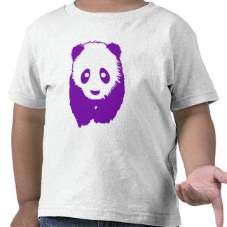 Panda púrpura camiseta