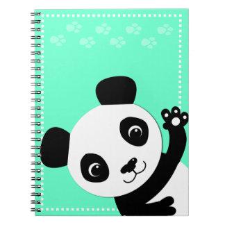 Panda que agita spiral notebooks