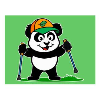Panda que camina tarjetas postales