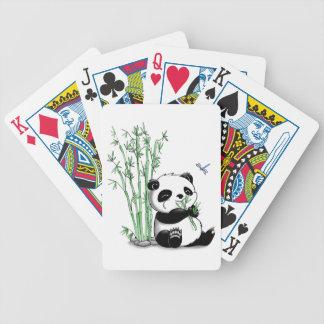 Panda que come el bambú barajas de cartas