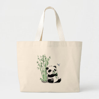 Panda que come el bambú bolsa