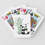 Panda que come el bambú cartas de juego