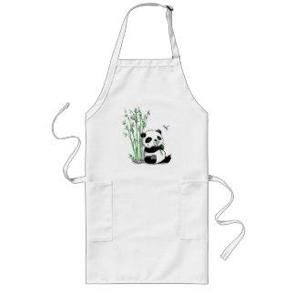 Panda que come el bambú delantal largo