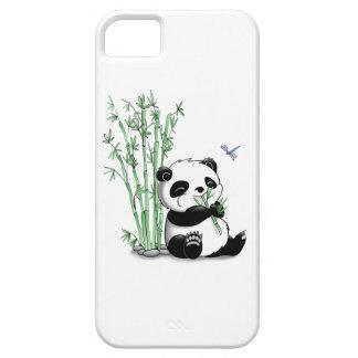 Panda que come el bambú iPhone 5 cárcasa