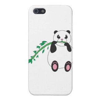 Panda que come el bambú iPhone 5 cárcasas