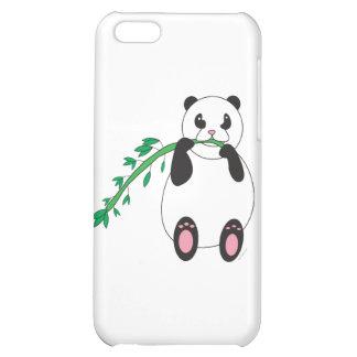 Panda que come el bambú