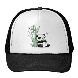 Panda que come el bambú gorro de camionero